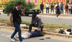Trujillo: policías persiguen a peligrosa banda de delincuentes a balazos