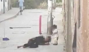 Ica: mujer es agredida salvajemente frente a su hija de dos años