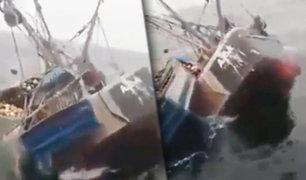 Chimbote: embarcación pesquera naufraga con 13 tripulantes a bordo