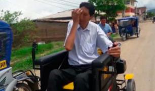 Margarito se moviliza en silla de ruedas debido a fuertes problemas de salud
