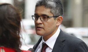 Fiscal Pérez afirmó que se recogió declaración testimonial del congresista Miguel Castro