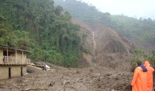 Huánuco: cinco personas salvan de morir en deslizamiento de tierra