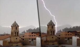 Cusco: caída de rayo en área céntrica de Sicuani causa asombro en pobladores