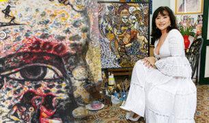 Cuba: mujer revela que se comunica con espíritus para pintar
