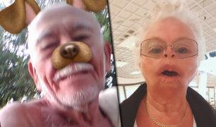 Snapchat: adultos mayores se entretienen con filtros animados de celulares