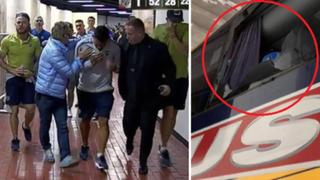 Bus que trasladaba a jugadores de Boca Junior sufre ataque de piedras