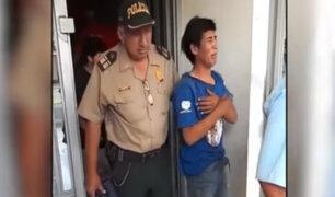 Trujillo: ladrón rompe en llanto cuando es atrapado robando librería