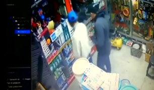 Los Olivos: cámaras de seguridad registran asalto a ferretería