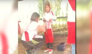 Detienen a mujer que escondió bengalas en el cuerpo de una niña