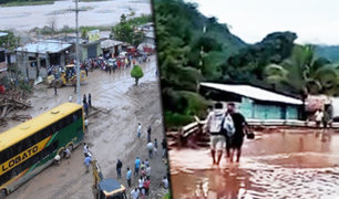 Chanchamayo: intensas lluvias impiden el tránsito vehicular en la Carretera Central