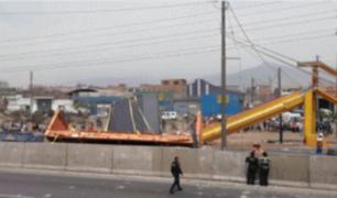 Empresa de vehículo que provocó caída de puente continúa sin pronunciarse