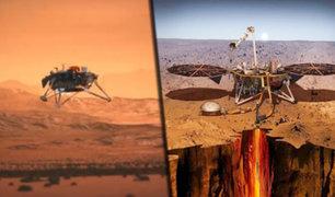 """La sonda """"Insight"""" aterrizó con éxito en el planeta Marte"""