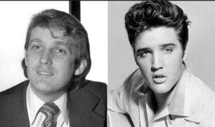 Donald Trump afirmó que de joven lo comparaban con Elvis Presley