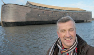 """Holanda: carpintero construye un """"Arca de Noé"""" de tamaño real y piensa llevarla a Israel"""