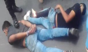 Policías frustran robo a agente bancario en Puente Piedra y capturan delincuentes