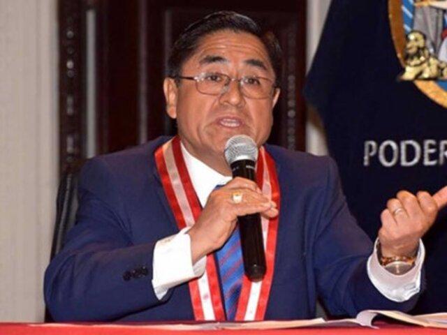 PJ entregó cuadernillo de extradición de César Hinostroza al Ministerio de Justicia