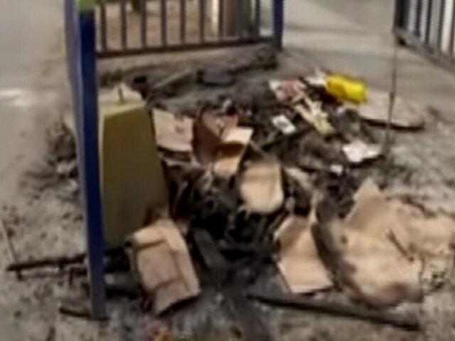 San Luis: piden mayor seguridad por caseta de vigilancia quemada por segunda vez