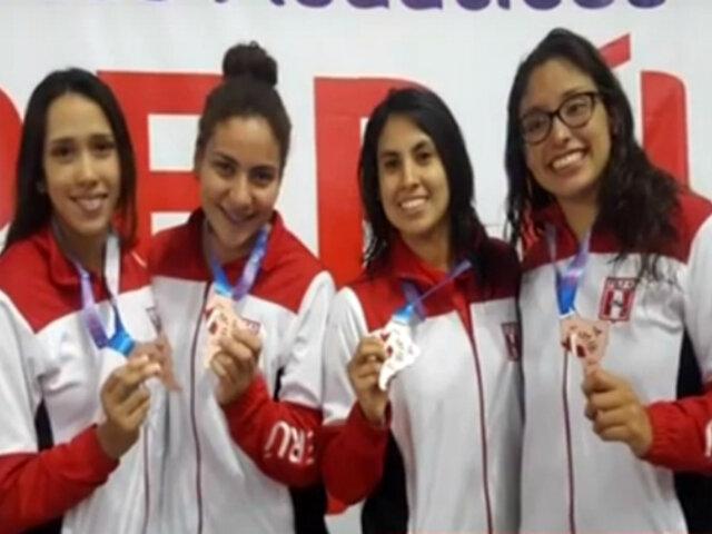 Sudamericano de Natación: Perú sumó tercera medalla de Bronce en relevos