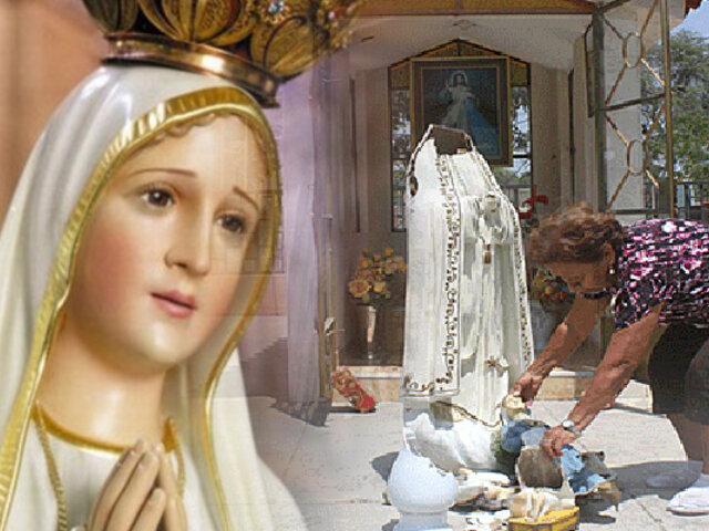 Sujeto destroza imagen de la Virgen de Fátima en Piura