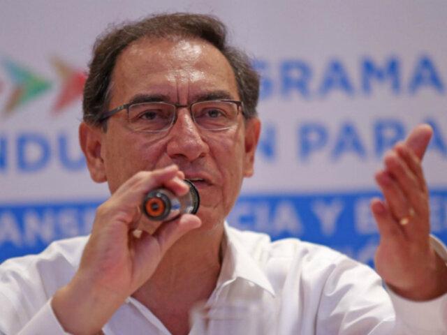 """Martín Vizcarra: """"Autoridad que delinque será castigada severamente"""""""
