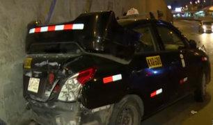 La Victoria: conductores salvan de morir tras aparatoso choque en la Vía Expresa