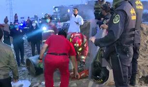 Villa el Salvador: hallan cadáver de mujer dentro de un cilindro