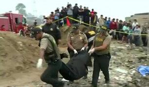 VES: cadáver de mujer hallado en cilindro habría sido quemado