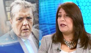 """Exprocuradora Delia Muñoz sobre Alan García: """"Es muy difícil que pida asilo a otro país"""""""