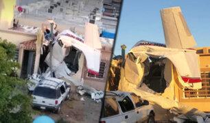 México: caída de avioneta deja 4 personas fallecidas en Culiacán