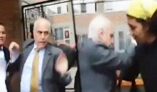 PUCP: rector sufre altercado con estudiantes durante protesta