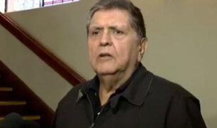 """Alan García: """"reiniciaré mi trabajo en el partido aprista"""""""