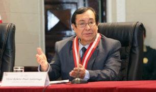 Promueven continuidad de Víctor Prado Saldarriaga en el Poder Judicial