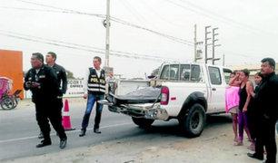 Lambayeque: conductor en aparente estado de ebriedad arrolló y mató a profesor