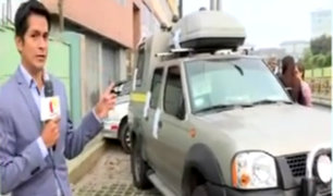 Vehículo en exteriores de casa de Alan García monitoreaba imágenes