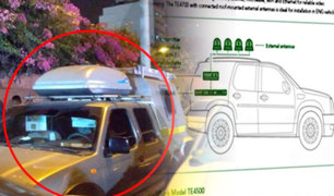 ¿Qué aparatos fueron hallados en vehículo en los exteriores de vivienda de Alan García?