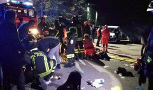 Italia: estampida durante concierto deja 6 muertos y decenas de heridos