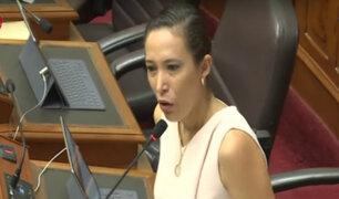 Congresista Paloma Noceda denuncia tocamientos indebidos en el Parlamento