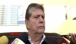 Referéndum2018: Expresidente García emitió su voto en Miraflores