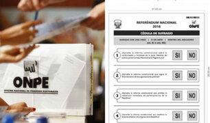 Referéndum 2018: jornada cívica se realizó sin mayores incidentes