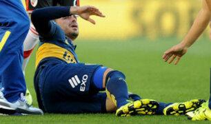 Gago se lesionó y dejó al Boca con nueve jugadores