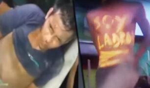 Iquitos: pobladores capturan y castigan a dos ladrones por robar mil soles