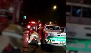 Serenos resultan heridos tras persecución a ladrones en Surco