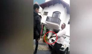 San Isidro: sujeto amenazó a repartidores con arma de fuego