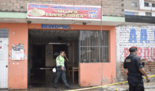 Comas: incendio en local de comedor popular cobró la vida de una anciana