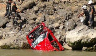 La Libertad: cuatro personas murieron tras despiste de auto a río Marañón