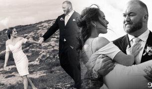 """""""La Montaña"""" de Juego de Tronos se casa con su novia en Islandia"""