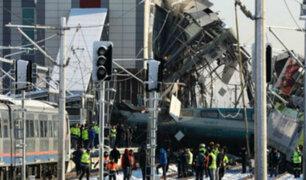 Turquía: nueve fallecidos dejó accidente ferroviario