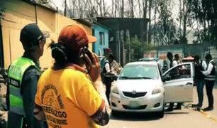 SJL: taxista fue baleado por presuntos sicarios