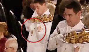 Suecia: mesero pasa bochornoso momento en cena del Premio Nobel