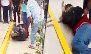 Arequipa: vecinos capturaron y maniataron a un presunto ladrón
